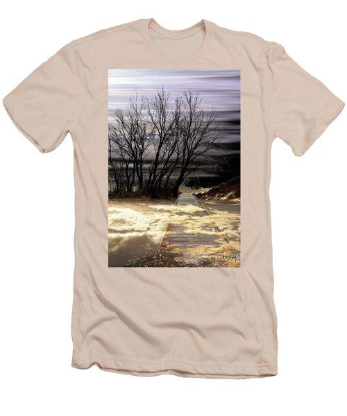 Bridge Men's T-Shirt (Slim Fit) by Joan Ladendorf