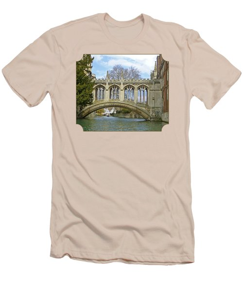 Bridge Of Sighs Cambridge Men's T-Shirt (Slim Fit) by Gill Billington
