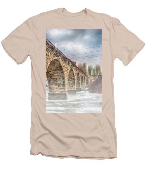 Bridge Over Frozen Water Men's T-Shirt (Athletic Fit)