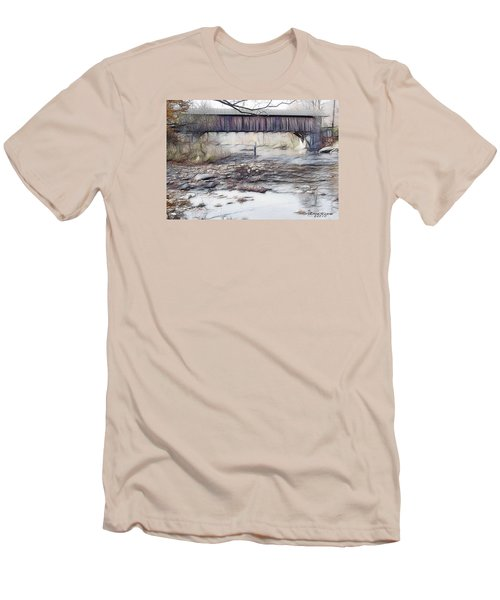 Bridge Over Troubled Waters Men's T-Shirt (Slim Fit) by EricaMaxine  Price