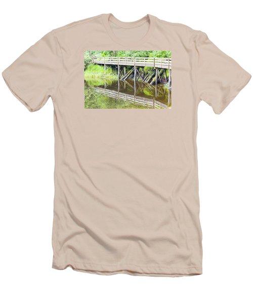Bridge To Nowhere Men's T-Shirt (Slim Fit) by Harold Piskiel