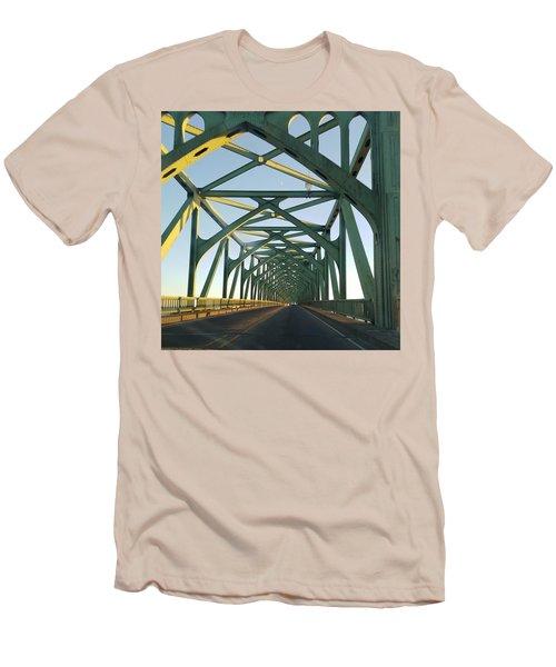 Bridge To Oregom Men's T-Shirt (Athletic Fit)