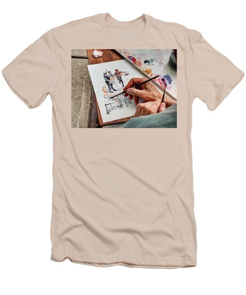 Brush Strokes Men's T-Shirt (Athletic Fit)