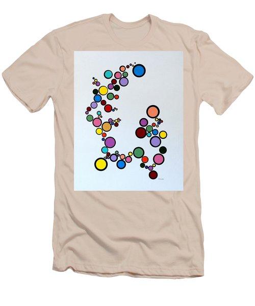Bubbles2 Men's T-Shirt (Slim Fit) by Thomas Gronowski
