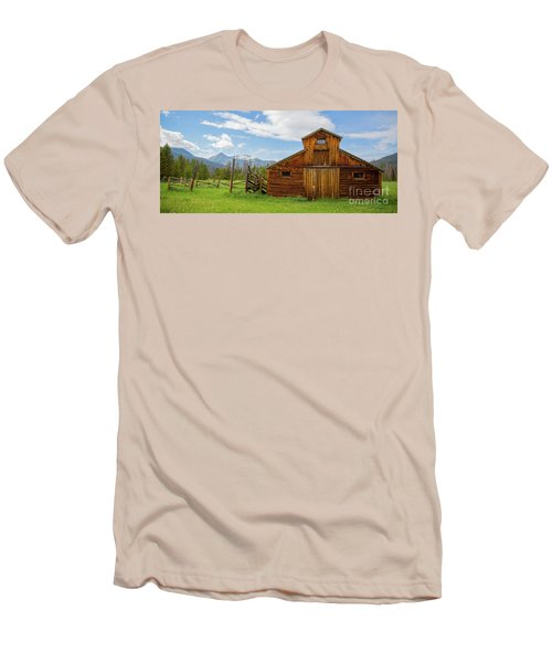 Buckaroo Barn In Rocky Mtn National Park Men's T-Shirt (Athletic Fit)