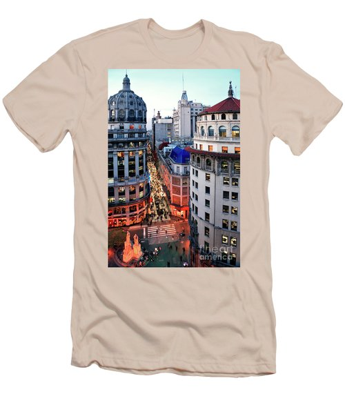 Buenos Aires Street I Men's T-Shirt (Slim Fit) by Bernardo Galmarini