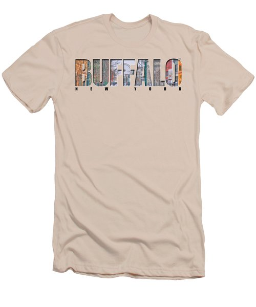 Buffalo Ny Snowy Downtown Men's T-Shirt (Athletic Fit)