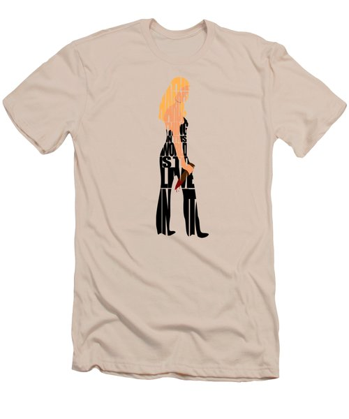 Men's T-Shirt (Slim Fit) featuring the digital art Buffy The Vampire Slayer by Ayse Deniz