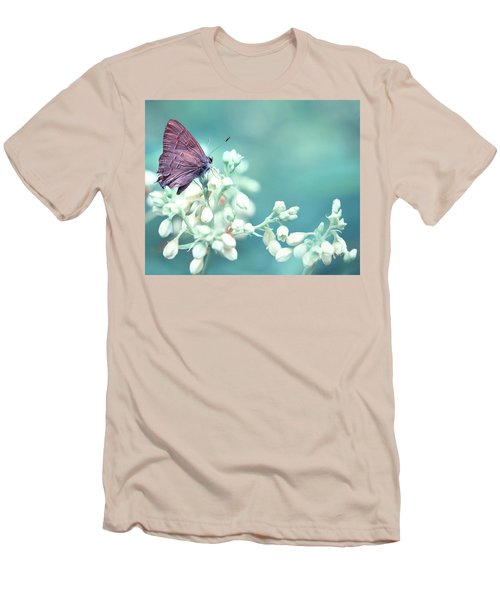 Men's T-Shirt (Slim Fit) featuring the photograph Buterfly Dreamin' by Mark Fuller