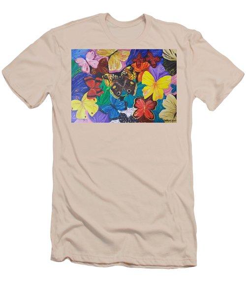Butterflies Men's T-Shirt (Slim Fit) by Rita Fetisov