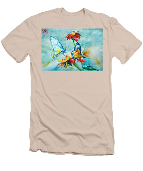 Butterfly Dance Men's T-Shirt (Slim Fit) by Jasna Dragun