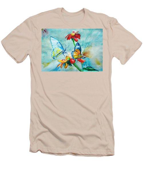 Butterfly Dance Men's T-Shirt (Athletic Fit)