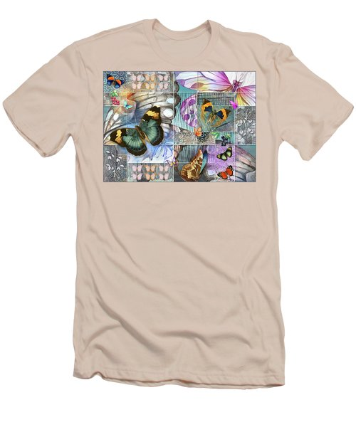 Butterfly Wings Collage Men's T-Shirt (Athletic Fit)