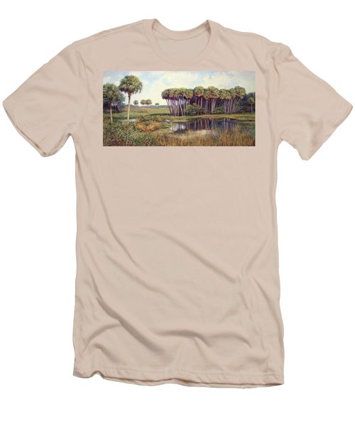 Cabbage Palm Hammock Men's T-Shirt (Slim Fit) by Laurie Hein