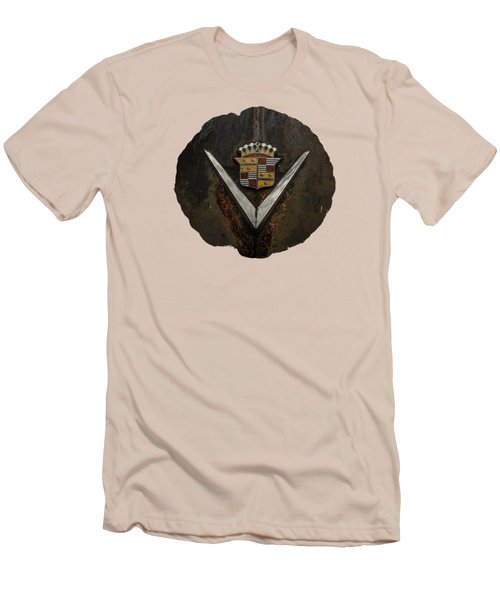 Men's T-Shirt (Slim Fit) featuring the photograph Caddy Emblem by Debra and Dave Vanderlaan