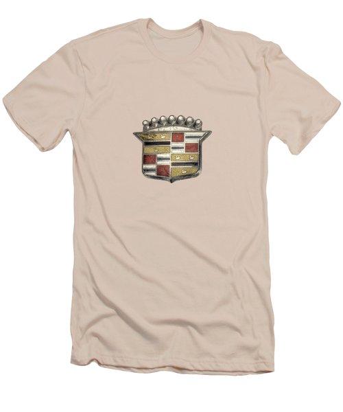 Cadillac Badge Men's T-Shirt (Slim Fit) by YoPedro