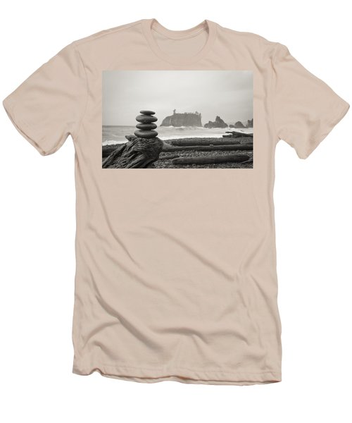 Cairn On A Beach Men's T-Shirt (Athletic Fit)