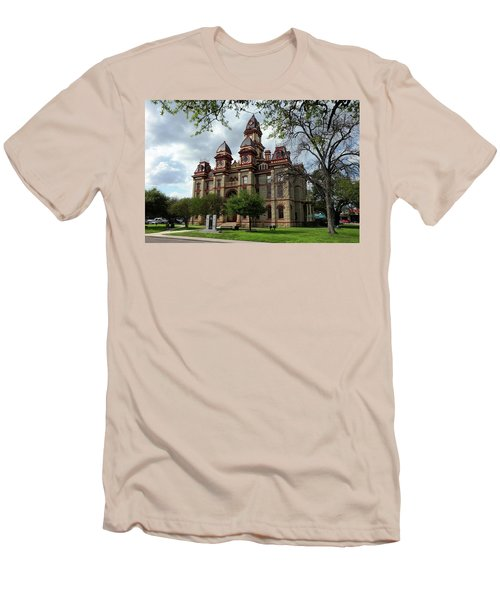 Men's T-Shirt (Slim Fit) featuring the photograph Caldwell County Courthouse by Ricardo J Ruiz de Porras