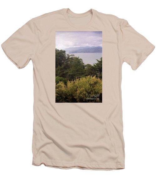 California Coast Fan Francisco Men's T-Shirt (Slim Fit) by Ted Pollard