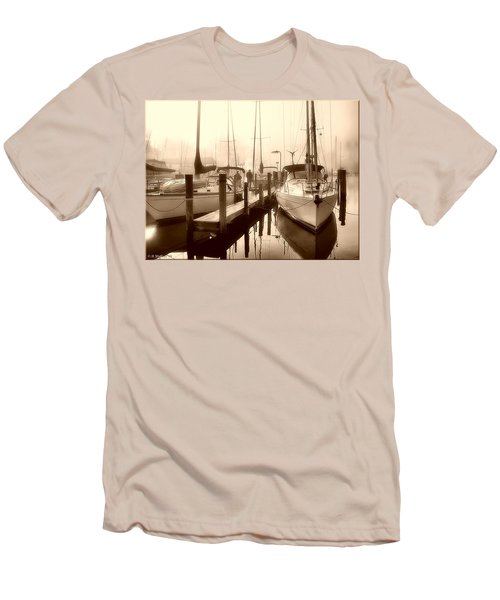 Men's T-Shirt (Slim Fit) featuring the photograph Calmly Docked by Brian Wallace
