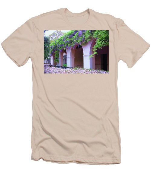 Men's T-Shirt (Athletic Fit) featuring the photograph Caltech Wisteria by Ram Vasudev