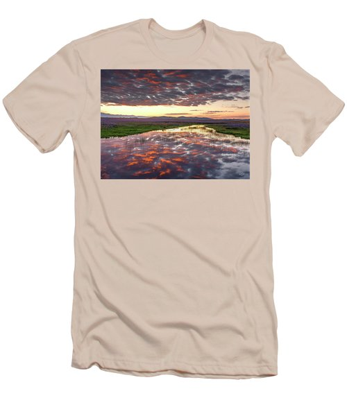 Men's T-Shirt (Slim Fit) featuring the photograph Camas Spring Sunrise by Leland D Howard