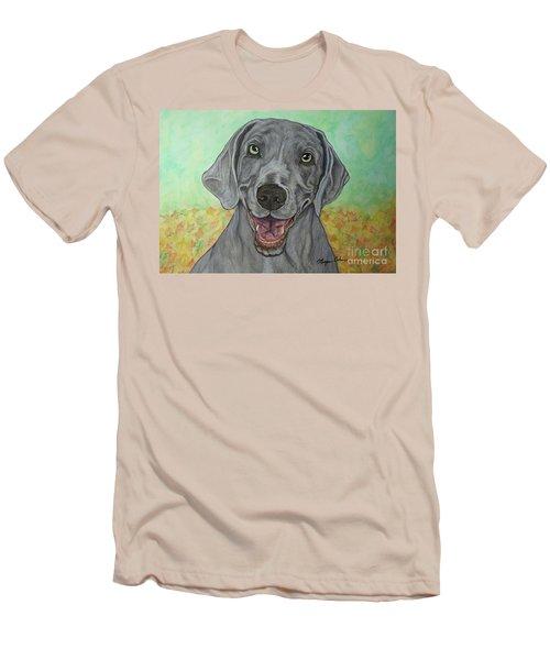 Camden The Weimaraner Men's T-Shirt (Athletic Fit)