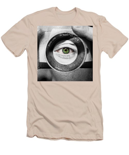 Camera Face Men's T-Shirt (Slim Fit) by Semmick Photo