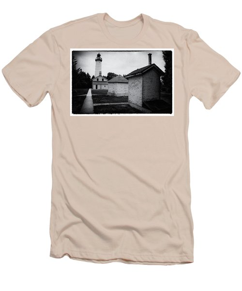 Cana Island Retro Men's T-Shirt (Slim Fit) by Janice Adomeit