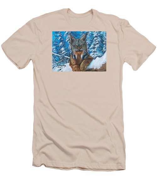 Canadian Lynx Men's T-Shirt (Athletic Fit)