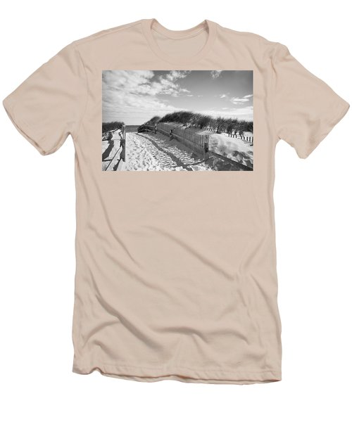 Cape Cod Beach Entry Men's T-Shirt (Slim Fit) by Mircea Costina Photography