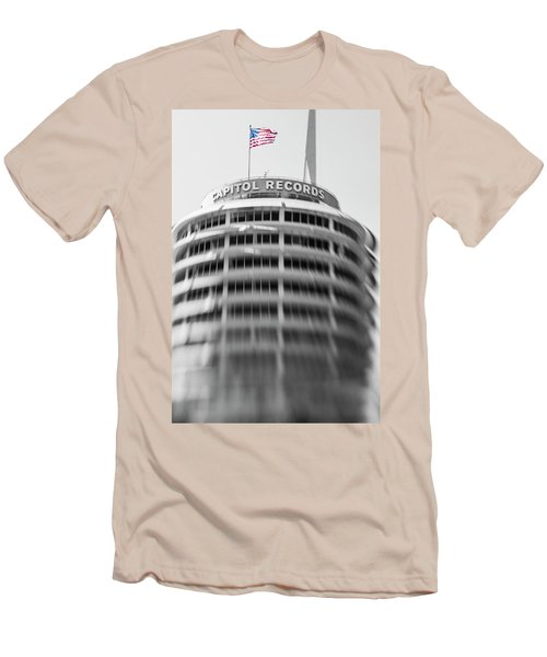 Men's T-Shirt (Slim Fit) featuring the photograph Capitol Records Building 18 by Micah May