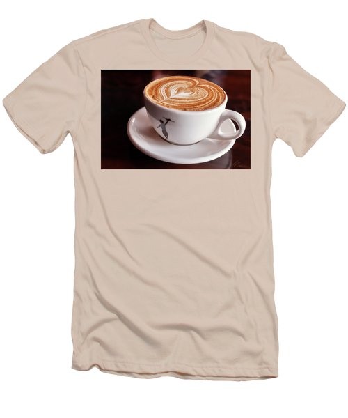 Cappuccino Men's T-Shirt (Slim Fit) by Anthony Citro