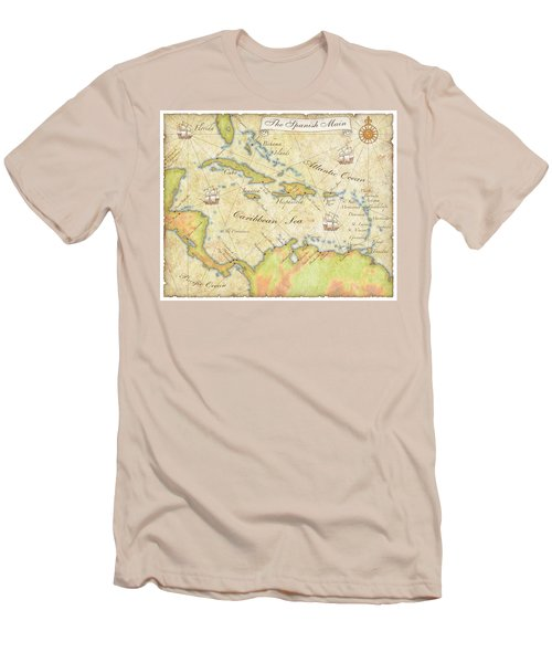 Caribbean Map - Good Men's T-Shirt (Slim Fit) by Sample