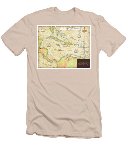 Caribbean Map II Men's T-Shirt (Slim Fit) by Unknown