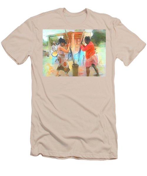 Caribbean Scenes - Mortar And Pestle In De Country Men's T-Shirt (Athletic Fit)