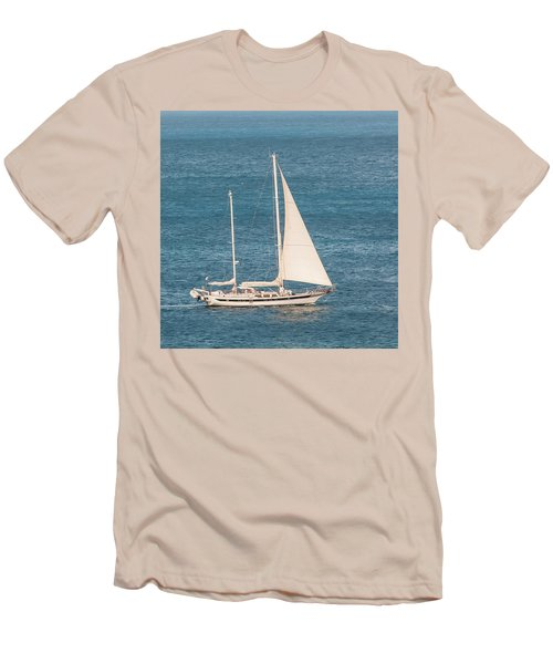 Men's T-Shirt (Athletic Fit) featuring the photograph Caribbean Scooner by Gary Slawsky