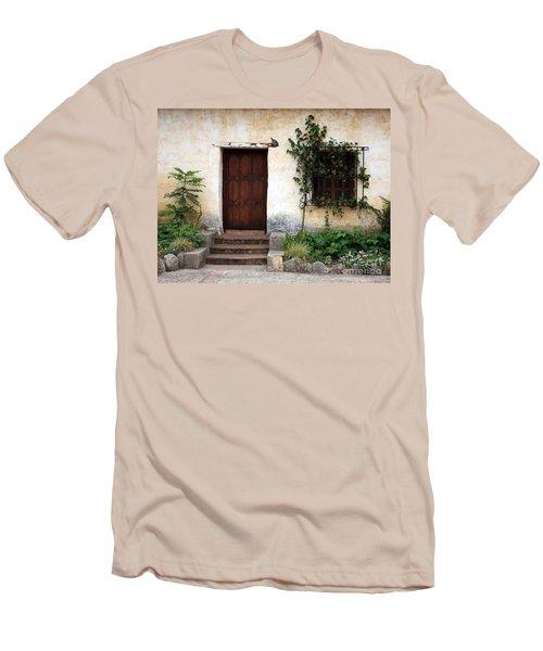 Carmel Mission Door Men's T-Shirt (Slim Fit)