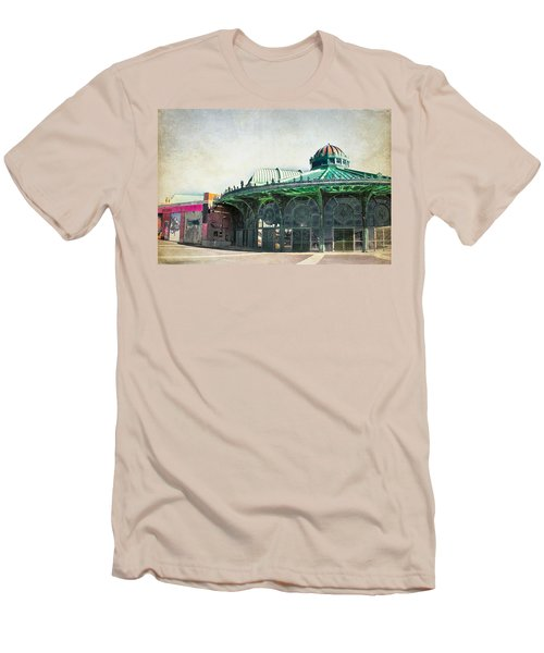 Carousel House At Asbury Park Men's T-Shirt (Slim Fit) by Colleen Kammerer