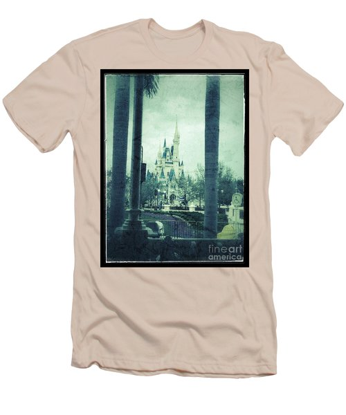 Castle Between The Palms Men's T-Shirt (Slim Fit) by Jason Nicholas