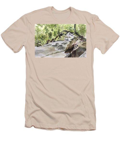 Catawba Falls - A Watercolor Sketch Men's T-Shirt (Athletic Fit)
