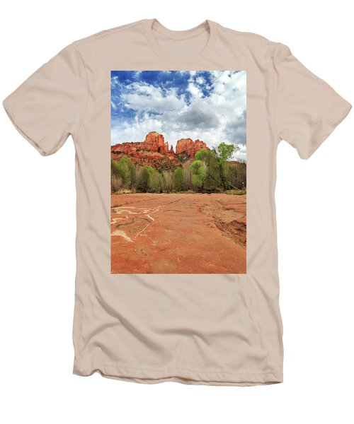 Men's T-Shirt (Slim Fit) featuring the photograph Cathedral Rock Sedona by James Eddy