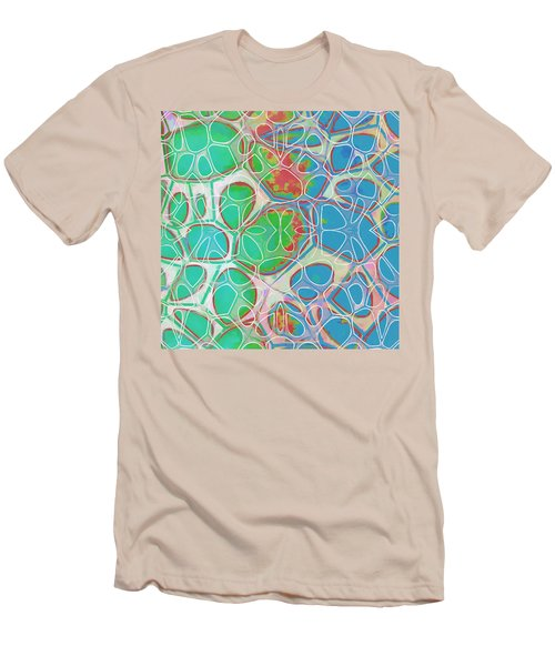 Cell Abstract 10 Men's T-Shirt (Slim Fit) by Edward Fielding
