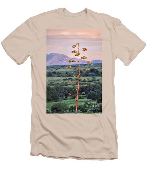 Men's T-Shirt (Slim Fit) featuring the photograph Centuryplant by Gina Savage