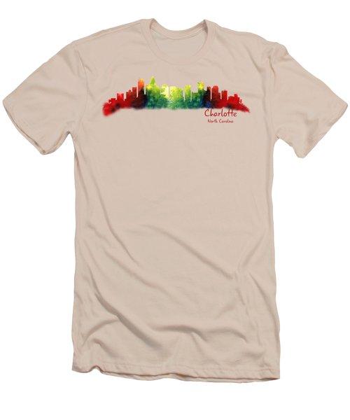 Charlotte North Carolina Tshirts And Accessories Men's T-Shirt (Slim Fit) by Loretta Luglio