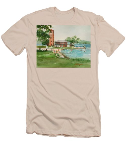 Chautauqua Bell Tower And Beach Men's T-Shirt (Athletic Fit)