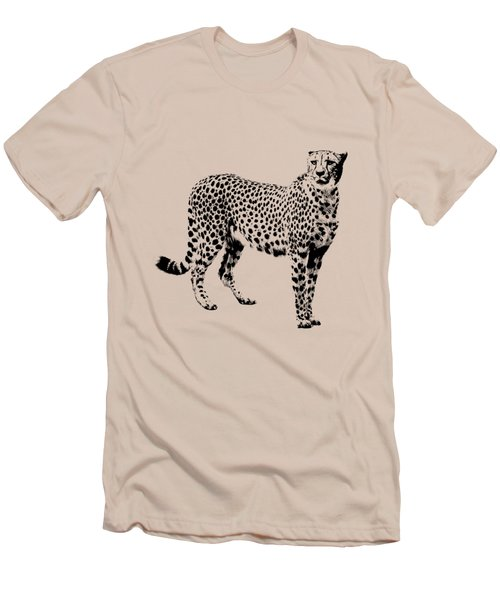 Cheetah Cutout Men's T-Shirt (Athletic Fit)