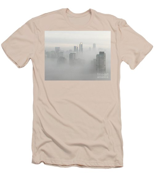Men's T-Shirt (Slim Fit) featuring the photograph Chicago In The Clouds by Kate Purdy