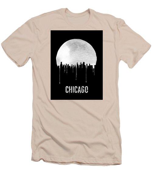 Chicago Skyline Black Men's T-Shirt (Athletic Fit)