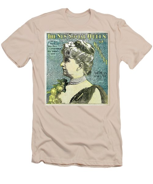 Men's T-Shirt (Slim Fit) featuring the photograph Chicago Woman Conquers New York's 400  1898 by Daniel Hagerman